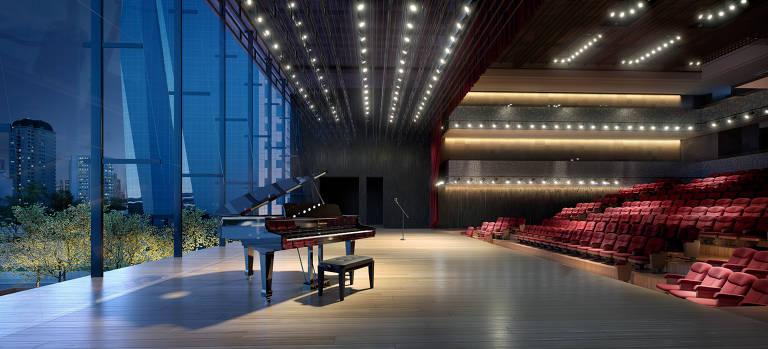 Saiba tudo sobre o novo teatro da Faria Lima, que abre com lives e cadeiras removíveis