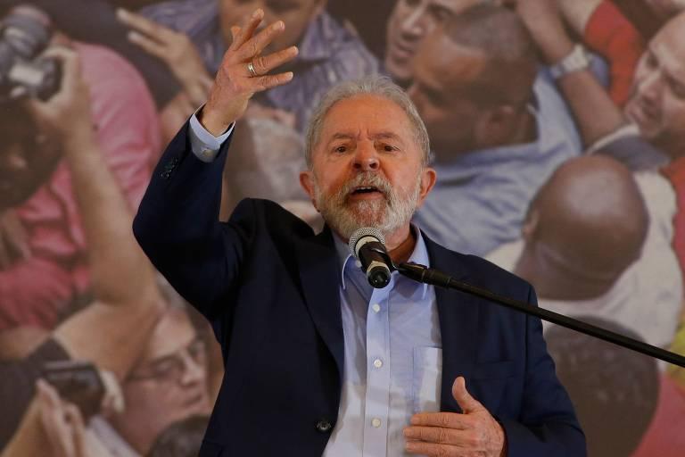 O ex-presidente Lula em 2021