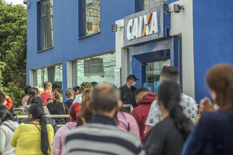 Agência da Caixa Econômica Federal na avenida Sapopemba, na zona leste de São Paulo