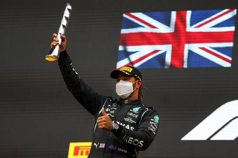 O inglês Lewis Hamilton é o recordista de poles da F1, com 100 poles