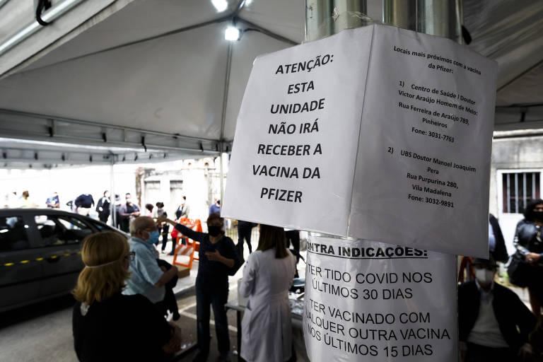 Paulistano sai em busca da vacina da Pfizer em postos da capital