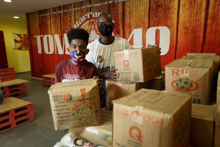 Baterias do samba se reúnem para ajudar ritmistas na crise