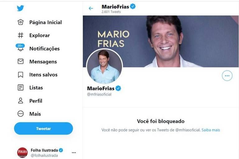 Mario Frias bloqueia Ilustrada no Twitter
