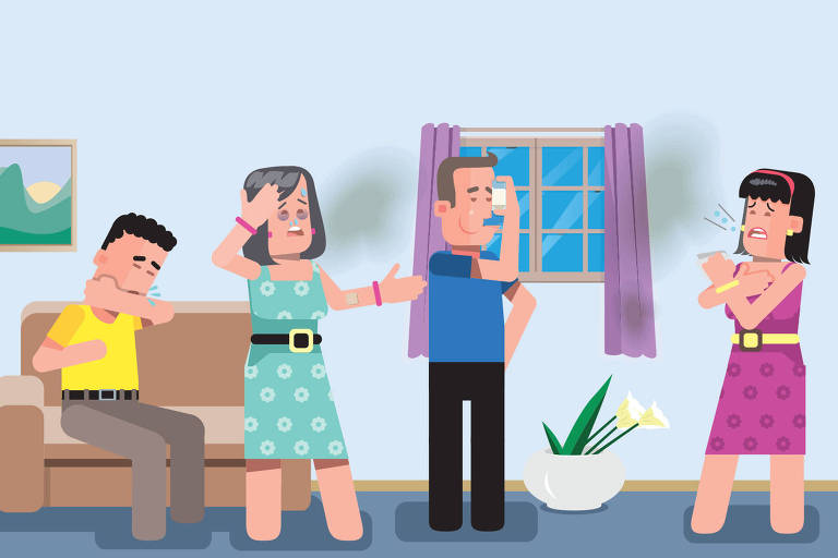 Ilustração para a coluna Vivabem sobre mofo em casa