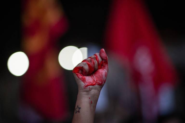 Protesto contra violência policial no Jacarezinho