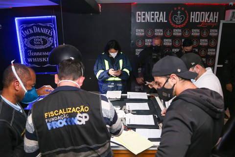 SAO PAULO , SP , 09.05.2021 , BRASIL , Fiscalização da Vigilância Sanitária em Eventos Irregulares Foto: Governo do Estado de São Paulo