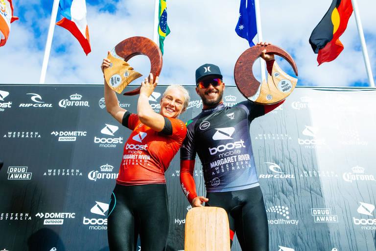 Temporada do surfe chega à final com quatro brasileiros na briga pelo título