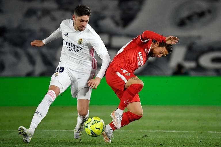 Federico Valverde já voltou ao time titular do Real Madrid após semanas de inatividade com Covid-19