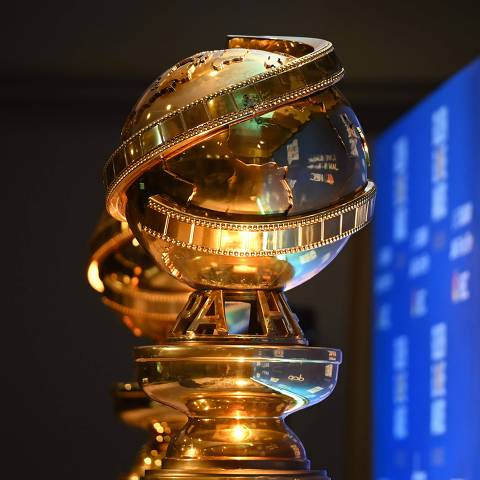 (FILES) In this file photo taken on December 09, 2019 Golden Globe trophies are set by the stage ahead of the 77th Annual Golden Globe Awards nominations announcement at the Beverly Hilton hotel in Beverly Hills. - The unveiling of the Golden Globes nominations on February 3, 2021 will jumpstart a Hollywood awards season like no other, with pandemic-related theater closures and blockbuster delays expected to boost smaller, stay-at-home movies like Netflix's