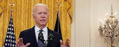 O presidente dos EUA, Joe Biden, no Salão Leste da Casa Branca, em Washington, EUA, 10 de maio de 2021. REUTERS/Kevin Lamarque ORG XMIT: WAS114