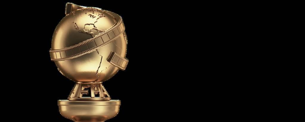 troféu dourado com símbolo do planeta terra