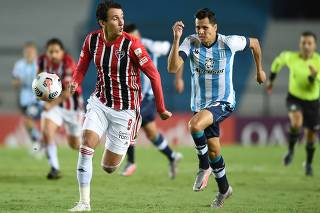 Copa Libertadores - Group E - Racing Club v Sao Paulo