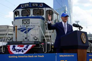 U.S. President Joe Biden and first lady Jill Biden visit Philadelphia