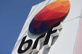 Logo da BRF fotografado em Curitiba (PR)