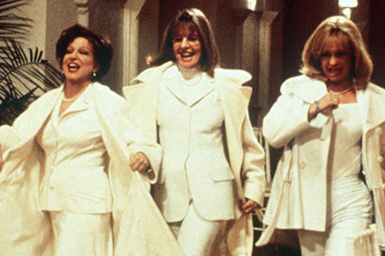 As atrizes Bette Midler, Diane Keaton e Goldie Hawn em cena do filme 'Clube das Desquitadas', de Hugh Wilson