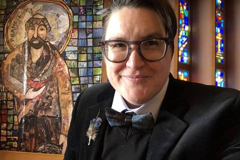The Rev. Megan Rohrer in an undated photo. Rohrer became the first openly transgender person to be elevated to the role of bishop in a major American Christian denomination when they were elected on Saturday to lead a synod in the Evangelical Lutheran Church in America. (Megan Rohrer via The New York Times) -- NO SALES; FOR EDITORIAL USE ONLY WITH NYT STORY LUTHERAN TRANSGENDER BISHOP BY JESUS JIMÉNEZ FOR MAY 10, 2021. ALL OTHER USE PROHIBITED. -- ORG XMIT: XNYTF