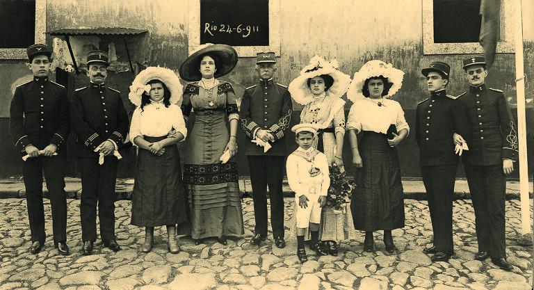 Retrato da família de militares de FHC em 1911