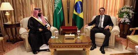 Riade,Arábia Saudita, 29-10-2019  -  O presidente da república Jair Bolsonaro durante o encontro com sua Alteza Real, Mohammed bin Salman, Príncipe Herdeiro do Reino da Arábia Saudita. Foto: José Dias/PR