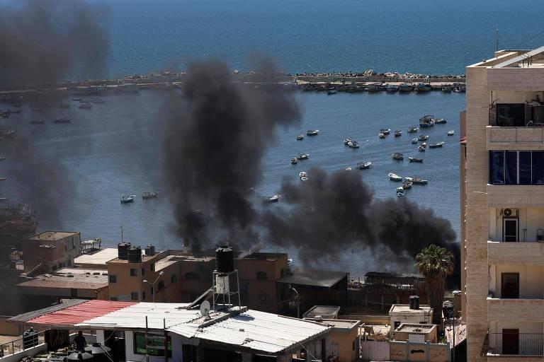 Em dia de maior bombardeio de Israel contra Gaza, conflito se espalha com mortos na Cisjordânia