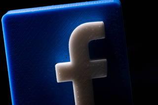 FILE PHOTO: A 3D printed Facebook logo