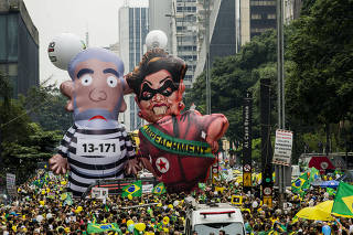 Manifestação contra o governo de Dilma Rousseff