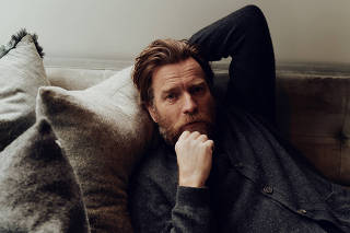 The actor Ewan McGregor at home in Los Angeles, April 21, 2021. (Jake Michaels/The New York Times)