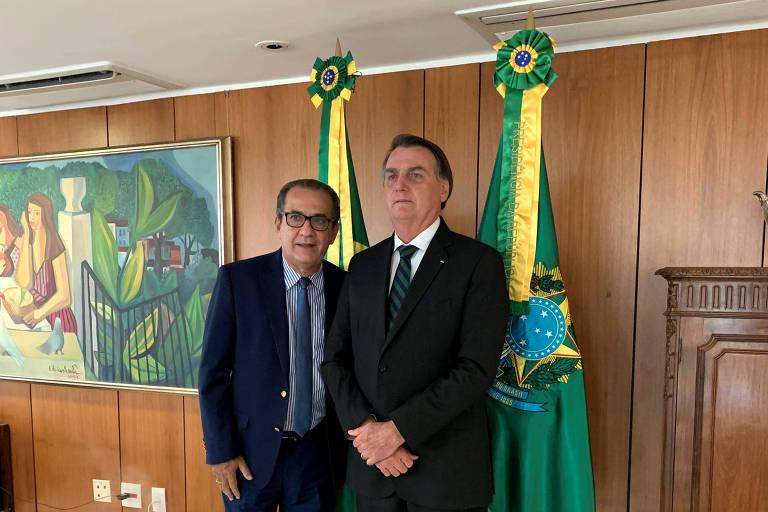 O presidente Jair Bolsonaro recebeu, em abril, o pastor Silas Malafaia em seu gabinete