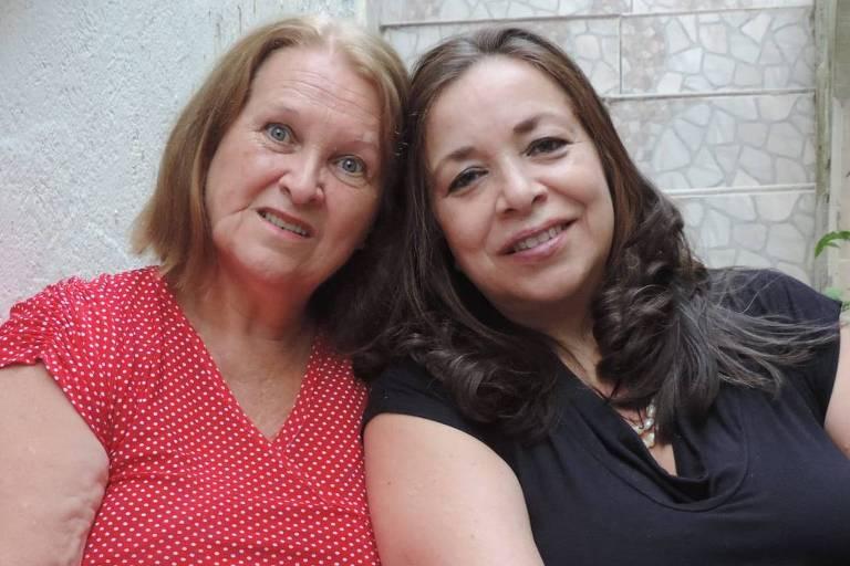 As irmãs Ivone Conti, 60 anos, e  Silvana Filomena Palumbo, 55, se reecontraram após 55 anos graças ao teste do kit DNA