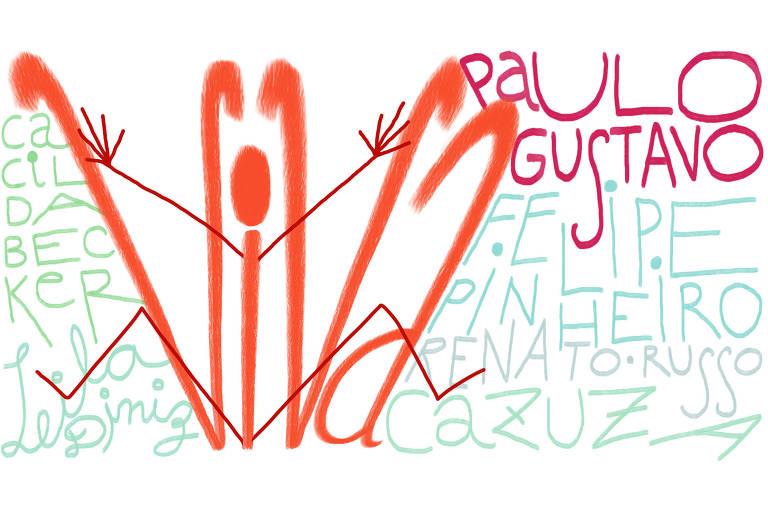 Paulo Gustavo foi Cazuza, Renato, Cacilda e Leila, e por isso viva Paulo Gustavo