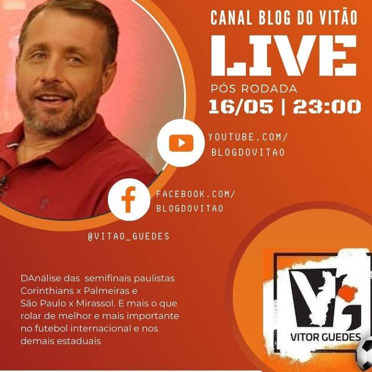 Banner de divulgação da Live Blog do Vitão
