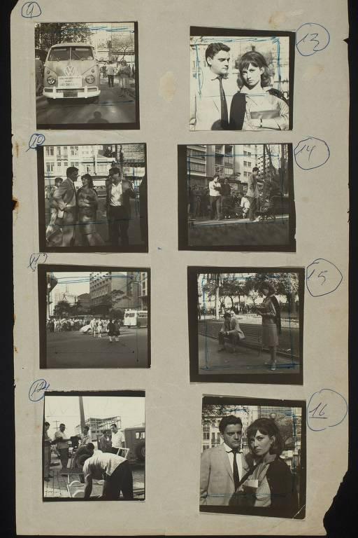 Página de contato de 'São Paulo S/A', de 1965, filme de Luis Sérgio Person