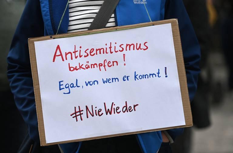 Antissemitismo em protestos pró-Palestina preocupa governos europeus