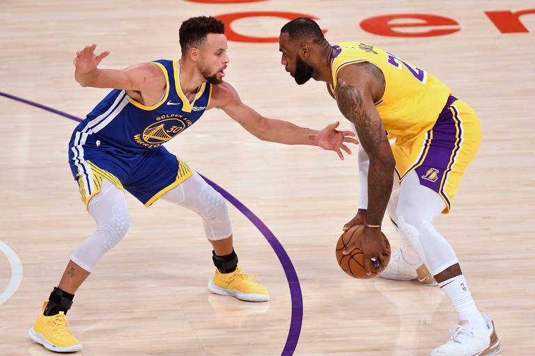 Play-in alivia finanças da NBA e tem novo duelo LeBron x Curry