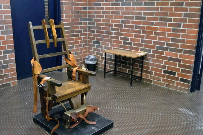Cadeira elétrica usada para execuções na Carolina do Sul