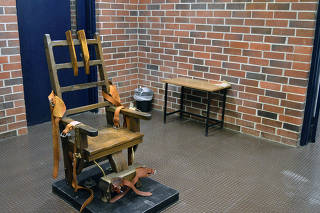 A photo provided by the South Carolina Department of Corrections shows the state?s electric chair in Columbia, S.C., in March 2019. (South Carolina Department of Corrections via The New York Times)