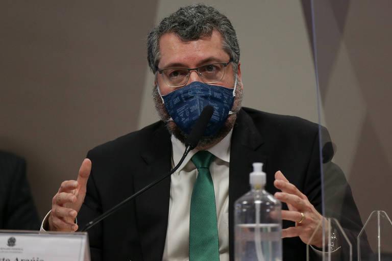 O ex-ministro das Relações Exteriores Ernesto Araújo, que deixou o cargo em março