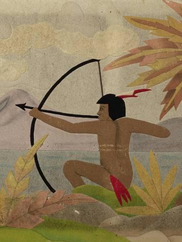 'Índios', da década de 1930, de Regina Gomide Graz, que faz parte da exposição 'Desafios da modernidade – Família Gomide-Graz nas décadas de 1920 e 1930', no Museu de Arte Moderna de São Paulo
