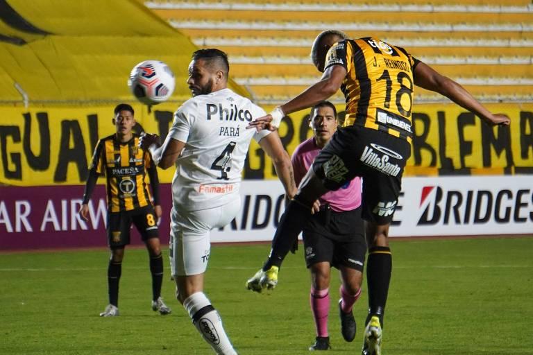 Bola aérea custou ao Santos a derrota nesta terça-feira (18), na Bolívia