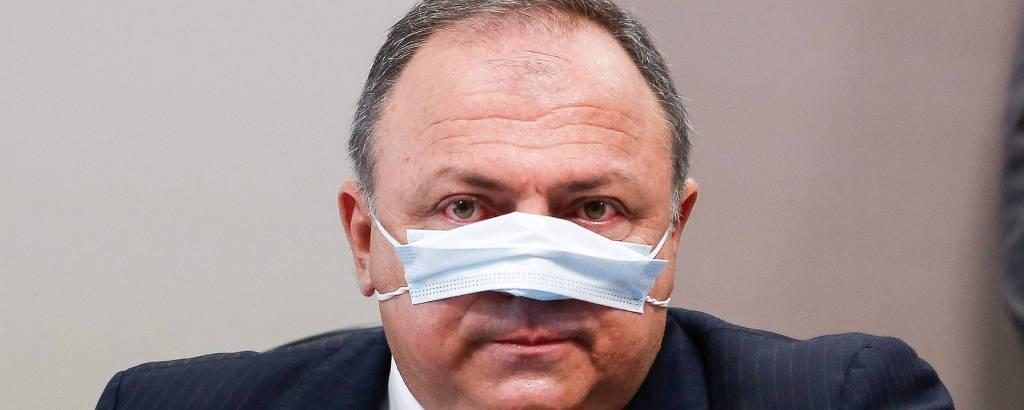 O ex-ministro Eduardo Pazuello na CPI da Covid