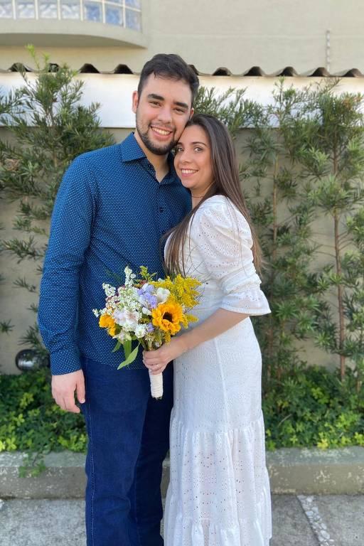 Bruna Assalim e Caique e optaram pelo casamento micro wedding