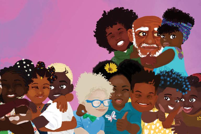 Em livro, crianças descobrem suas virtudes e a origem de seus nomes