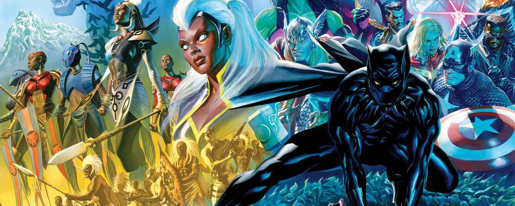 Nova série do Pantera Negra será lançada em agosto; capa é de Alex Ross