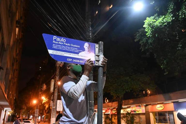 Sindicato diz que mudar nome de rua para Paulo Gustavo vai gerar prejuízos