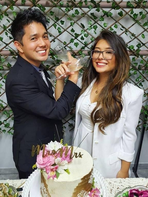 Ianka Saori e Alessandro  optaram pelo casamento micro wedding