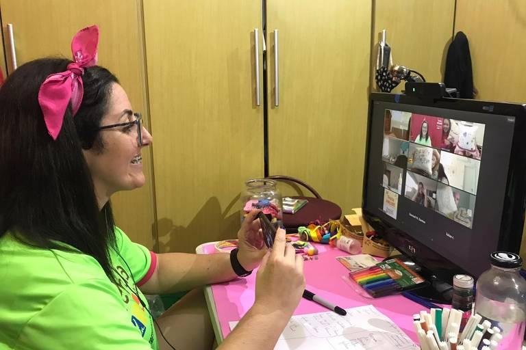 Empresas de recreação fazem festas online na pandemia