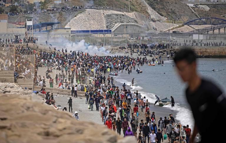 Recorde de imigrantes em Ceuta, na África