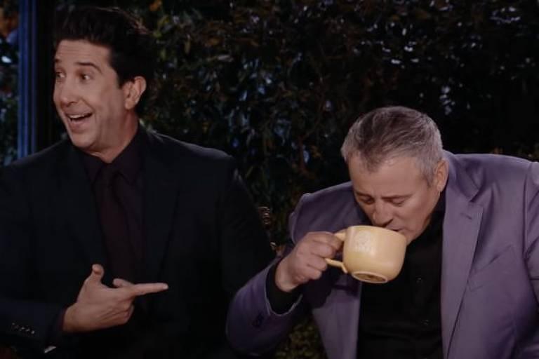 David Schwimmer e Matt LeBlanc: Ross reencontra Joey