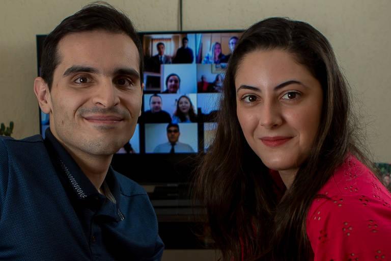 Franciane  e Leandro fizeram um casamento home wedding