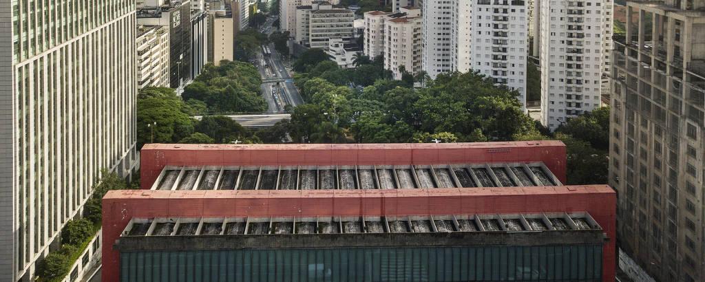 Vista aérea do prédio do Masp, projeto de Lina Bo Bardi