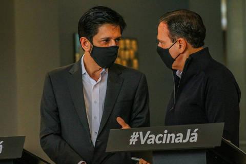 Apagão de vacinas gera 1º choque entre gestão Doria e prefeitura sob comando de Nunes
